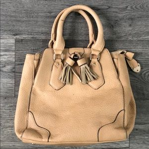 Handbags - Tan purse with fringe tassels